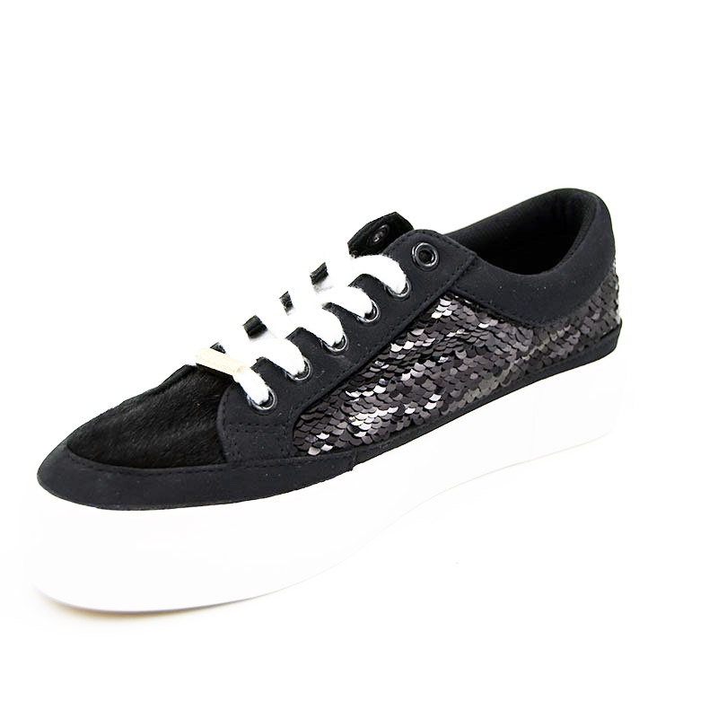 Vulcanized low cut lace up women shoes