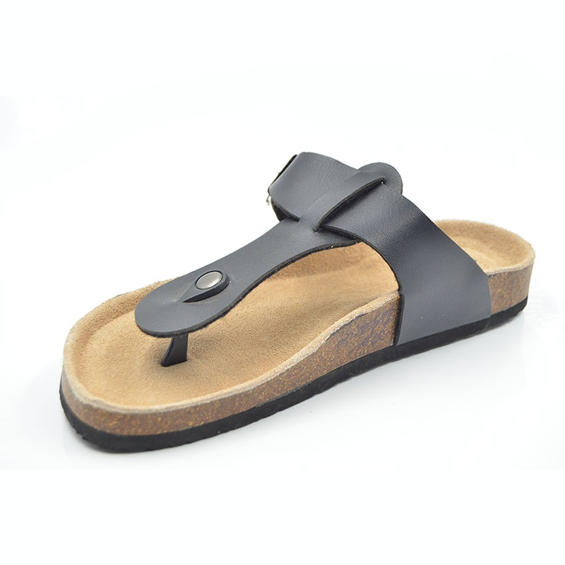 Black Women Cork Slipper