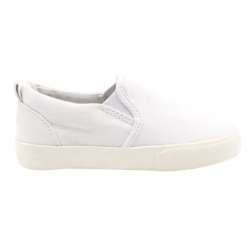 Vulcanized low cut slip on kid shoes