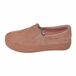 Vulcanized low cut slip on women canvas shoes