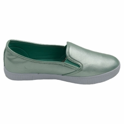 Vulcanized low cut slip on women PU shoes