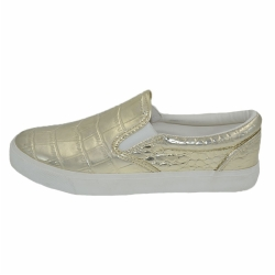 Vulcanized low cut women PU shoes