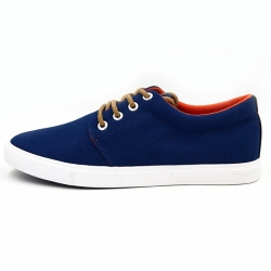 Vulcanized low cut men canvas shoes