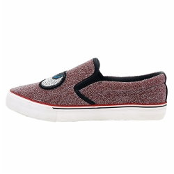 Vulcanized low cut slip on women shoes