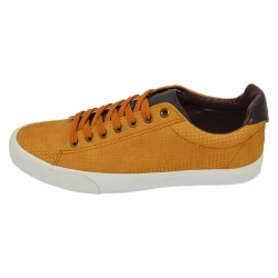 Vulcanized low cut men PU shoes