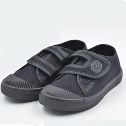 Black Kids Canvas Shoes