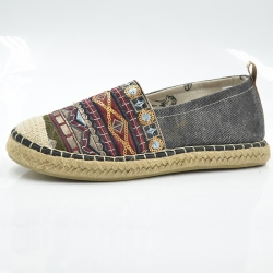Women Slip On Espadrille Shoes AEW0006