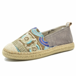 Women Slip On Espadrille Shoes AEW0019