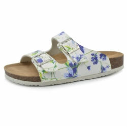 Women Flower printed Cork Slipper