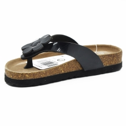 Women Black Cork Flipflops