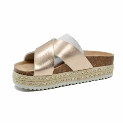 Golden Cork Slipper For Women