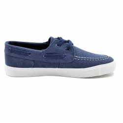 Classic vulcanized shoes with printed upper for man