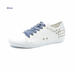 Fashion women sneakers with rivets in white color